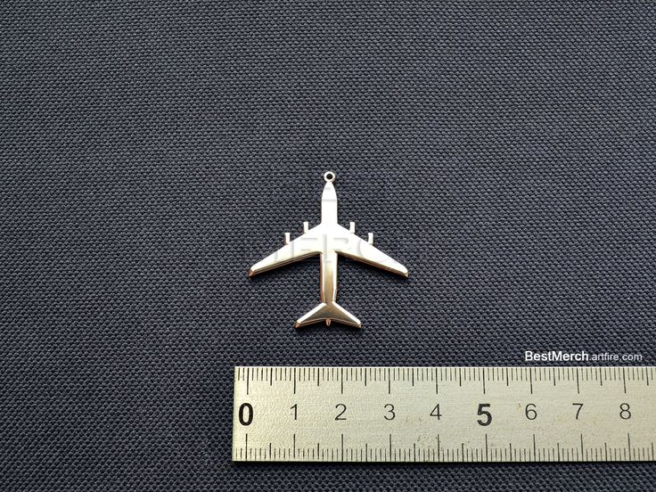 Plane Necklace Stainless Steel Aircraft Pendant Logo Symbol Merch