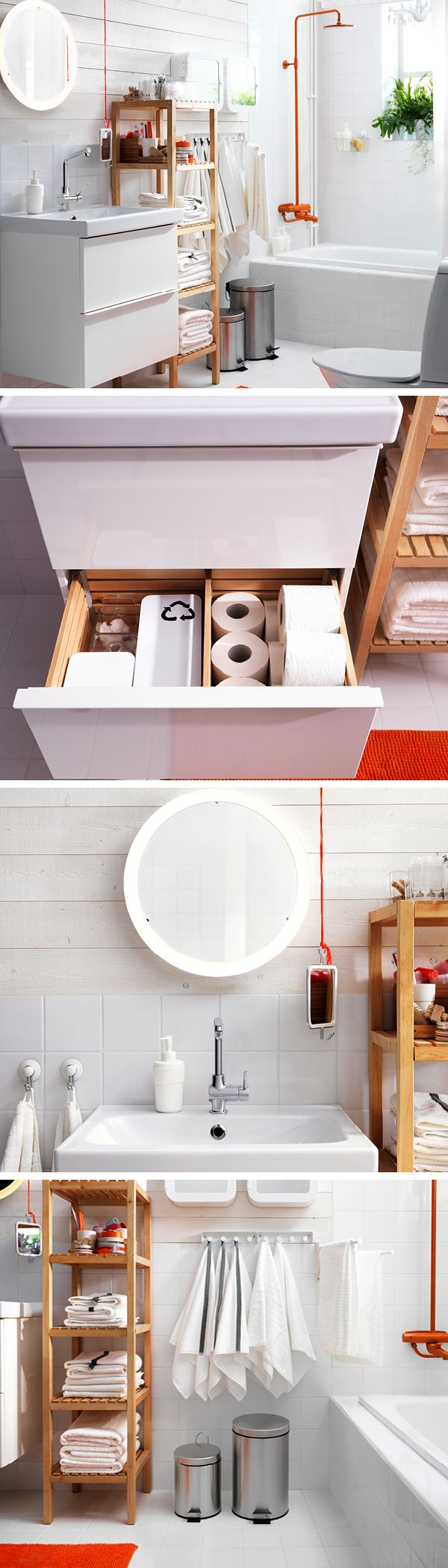 Every member of the family uses the bathroom - thinking sustainably can make a big difference. Small containers in a drawer can be used to sort small waste items like cotton balls and bottle tops. Switch to LED lighting, which uses up to 85% less energy can last for up to 20 years. Choose taps with in-built water saving features, and make sure they're turned off when not in use - a dripping tap can fill a bathtub in a day. Recycling bins can be used to sort larger waste items such as…