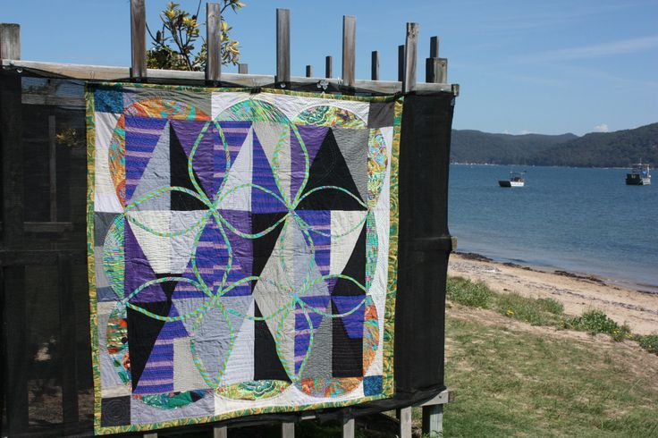 'Unconditional untraditional' modern quilt by Jess Wheelahan