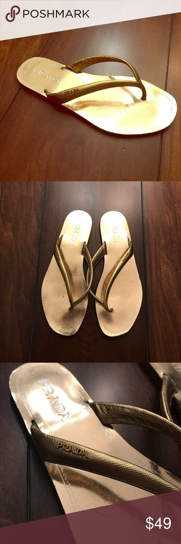 Prada flip flops authentic. great condition Prada Shoes Sandals