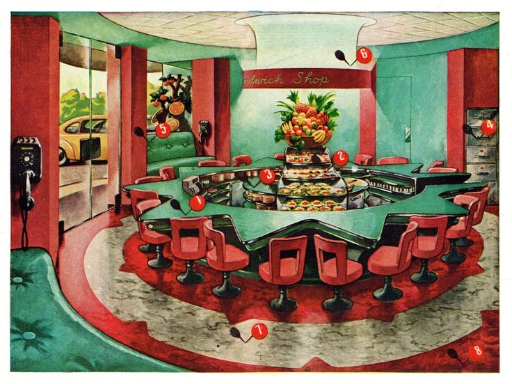 armstrong linoleum floors 1946 restaurant ideasrestaurant interiorsmy - Linoleum Restaurant Interior