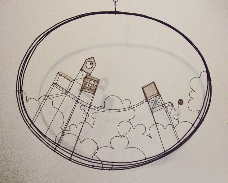 Wirework House Structures in hoop.