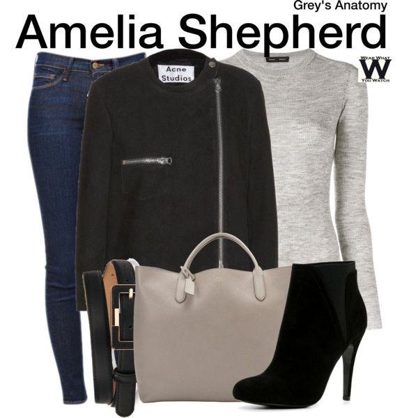 Inspired by Caterina Scorsone as Amelia Shepherd on Grey's Anatomy.