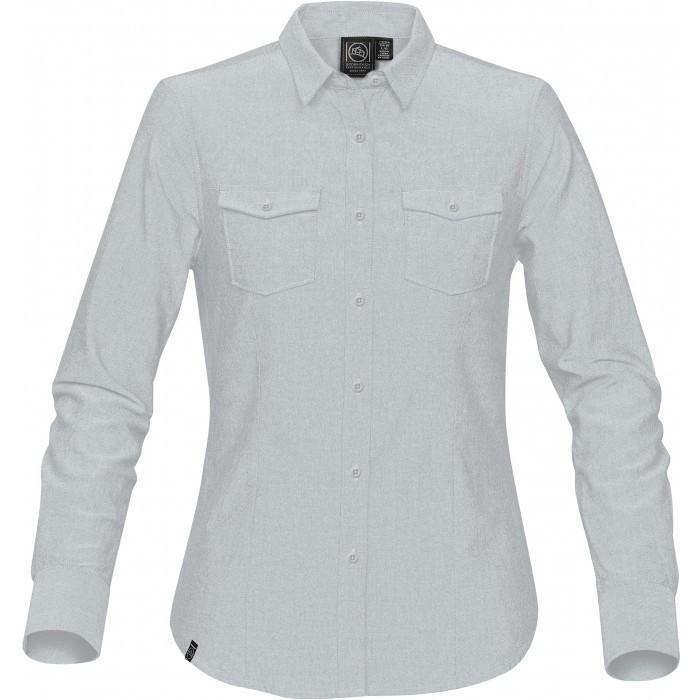 Stormtech Women's Cool Silver Hudson Oxford Shirt