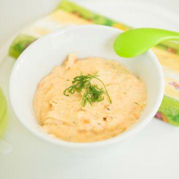 Barnmat med lax och potatis