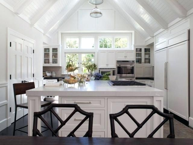 Vaulted Ceiling Beams Ideas White