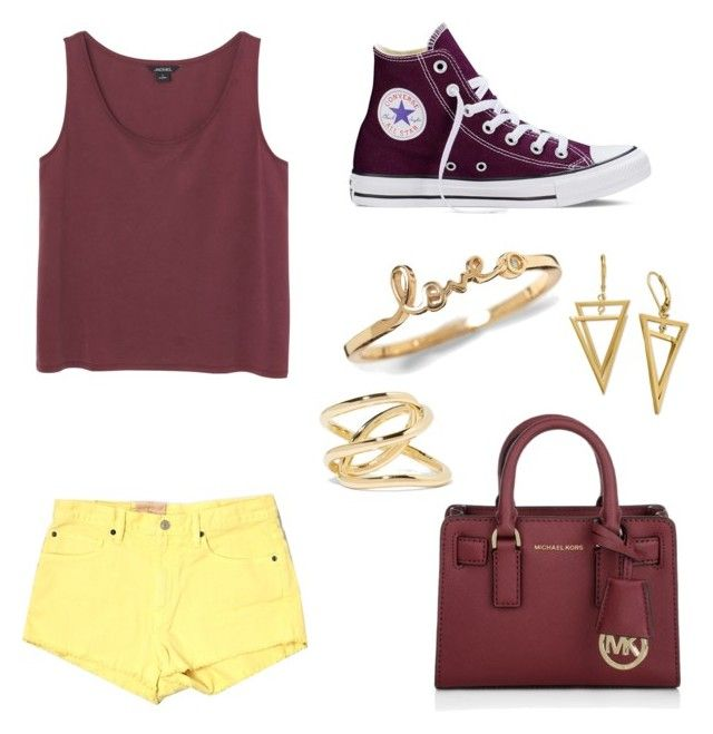 """""""Untitled #38"""" by renee-pape-patzkowski on Polyvore featuring beauty, Denim & Supply by Ralph Lauren, Monki, Converse, Michael Kors and Jennifer Fisher"""