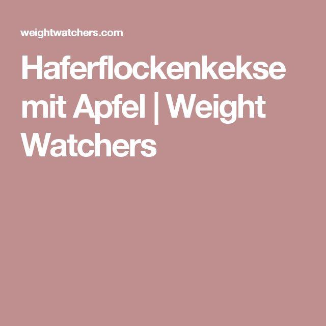 Haferflockenkekse mit Apfel | Weight Watchers