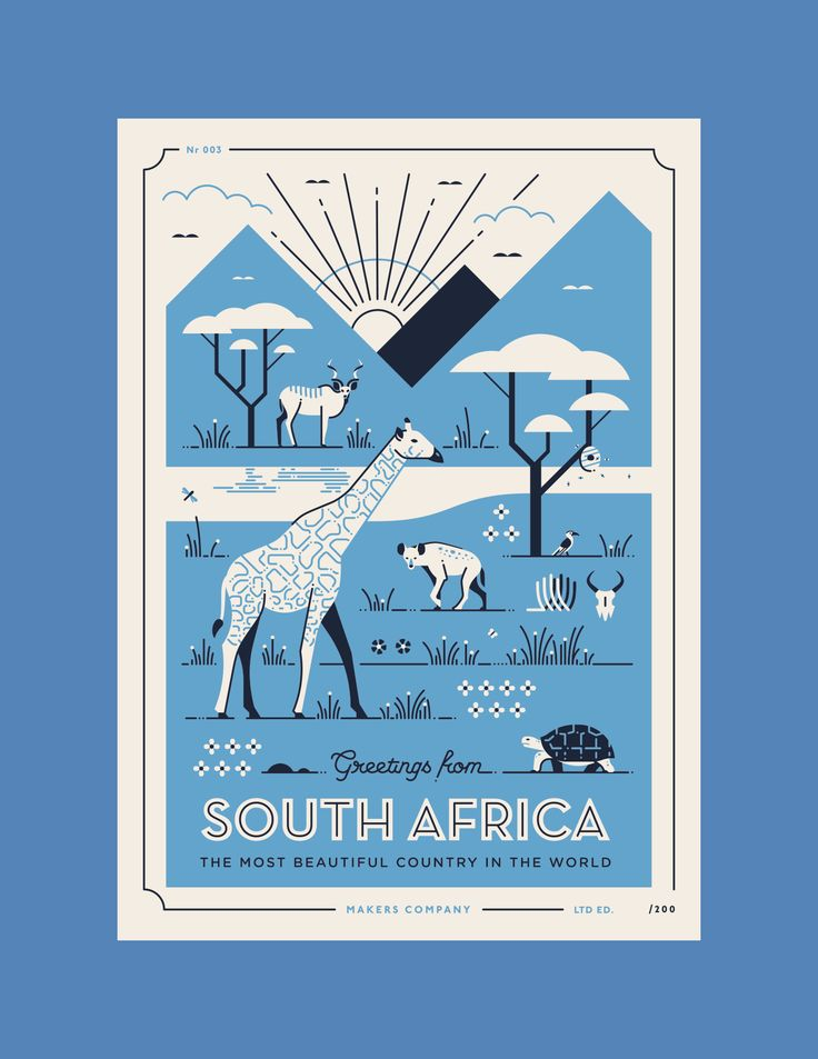 Greetings from South Africa - Postcards Series on Behance