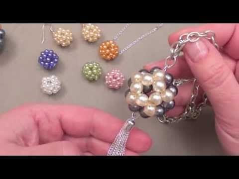 FABRIQUER DES BIJOUX : boules en perles - YouTube
