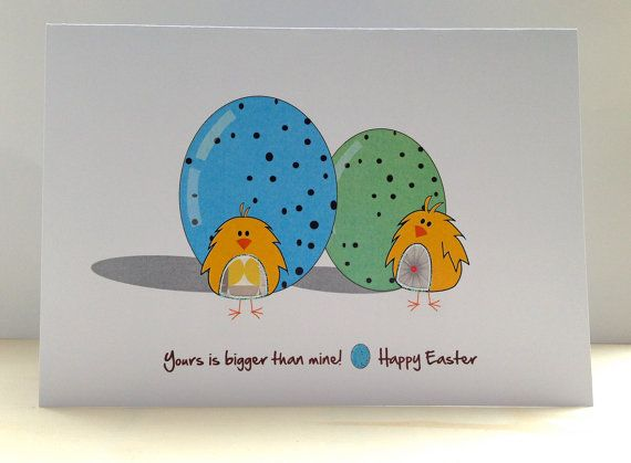 Easter Card Easter Chicks and Eggs Card Cute Easter Card