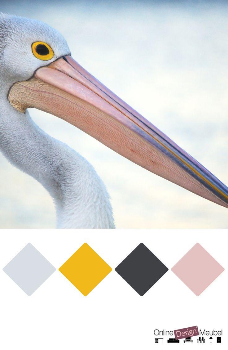 kleurenpalet met geel, roze en grijs | kleurenschema | kleurinspiratie | color schema