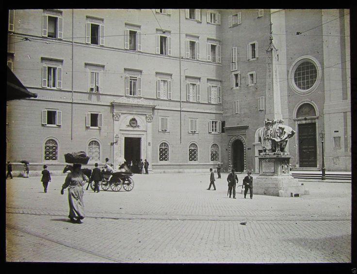 Roma, piazza della Minerva (1910 circa