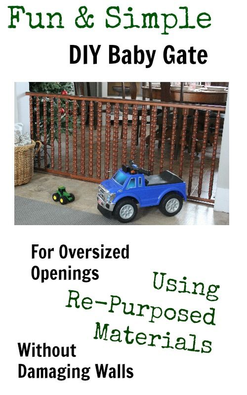 How to DIY a Baby Gate for a Large Opening With Salvaged Materials - The Creek Line House