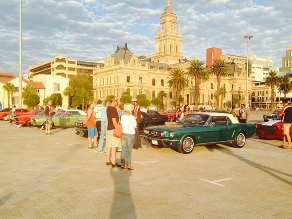 debbie bird @Debbie Bird #capetown 50 #Mustangs revving their Ponies at the same time