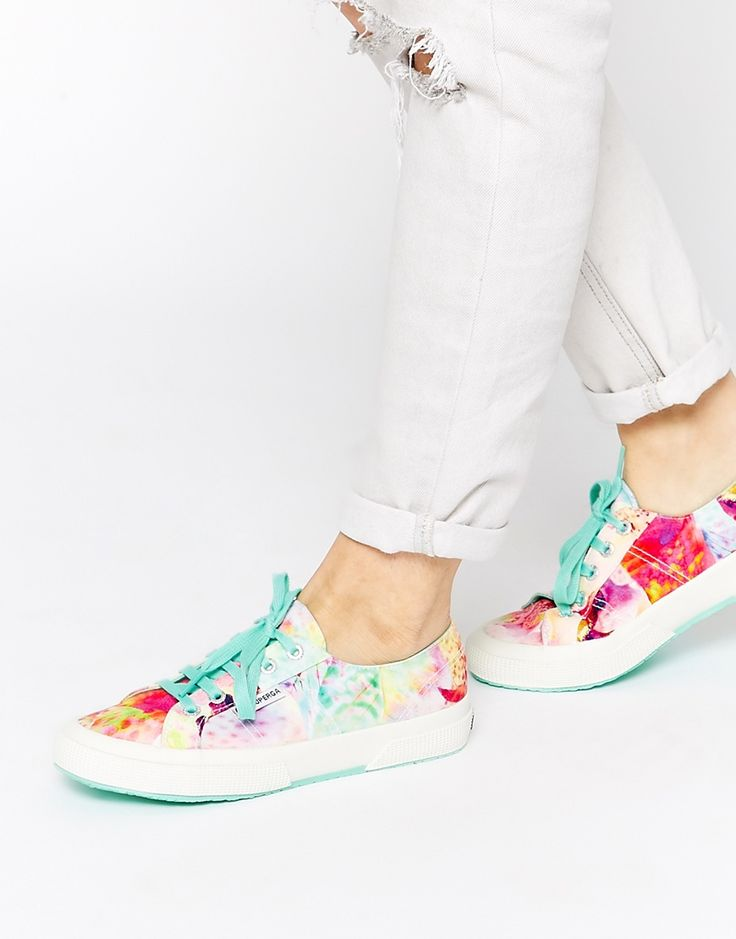 Image 1 of Superga 2750 Bahama Tropical Print Plimsoll Trainers