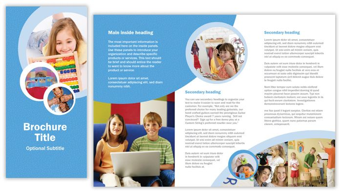 Tri-fold brochure templates by Lola Cavanagh at Coroflot - school brochure template