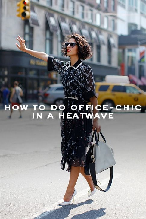 Kurt Geiger Stories: How to do office chic amidst a heatwave.  We Brits are truly awful at coping with the heat and, sartorially, need all the help we can get. Here's to making sense of summer work wear.
