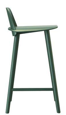 Chaise de bar Nerd / H 65 cm - Bois - Muuto