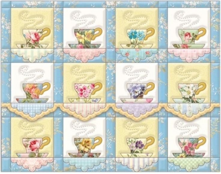 77 Best Teacup Amp Teapot Quilts Images On Pinterest Tea
