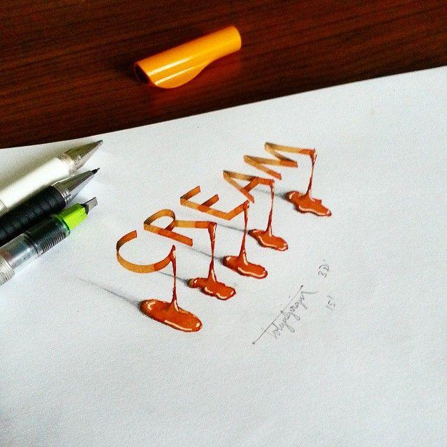 Les calligraphies en 3D de Tolga Girgin Photo