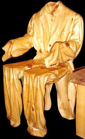 Quite horrendous, but the craft of this is impressive  Sedia da sera by Livio De Marchi.