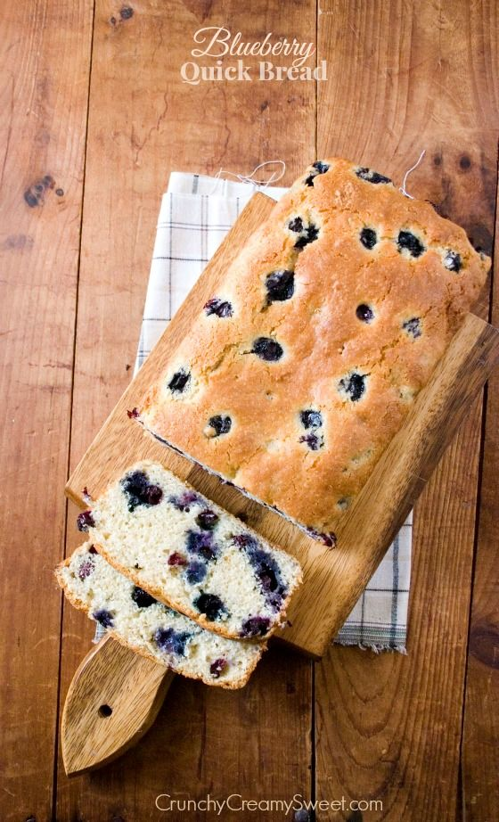 Blueberry Quick Bread - fluffy on the inside, packed with blueberries and crispy on the outside. One delicious quick bread!
