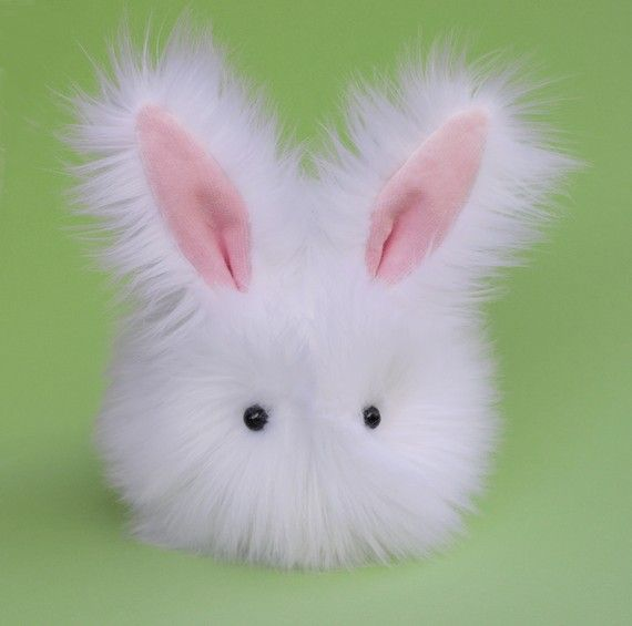 omigod i want this it's so so so cute Cottonball the Stuffed Bunny Plushie Baby Size by Zygopsyche, $29.00