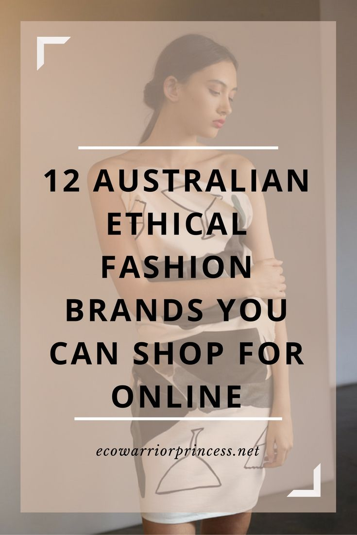 12 Australian ethical fashion brands you can shop for online