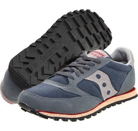 Saucony Originals Jazz Low Pro Vegan Men's Classic Shoes Grey/Red : 10.5 D - Medium