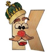 Great craft for younger kids - King K - free printable template
