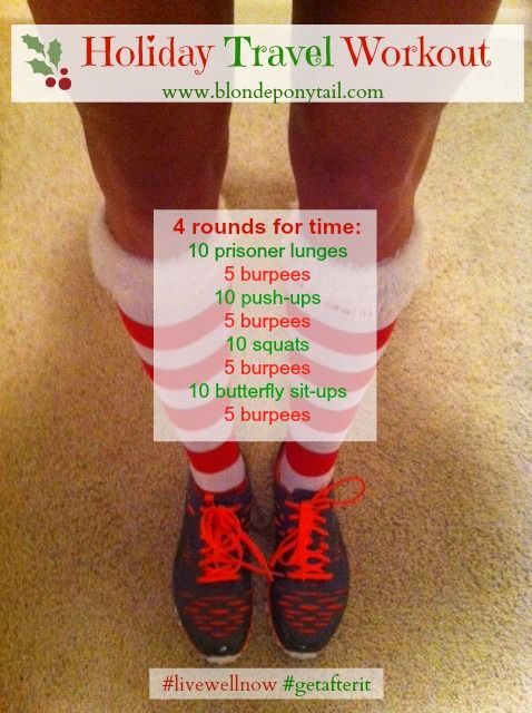 Holiday Travel Workout--just finished this, great for 'lazy' days where I skip the gym