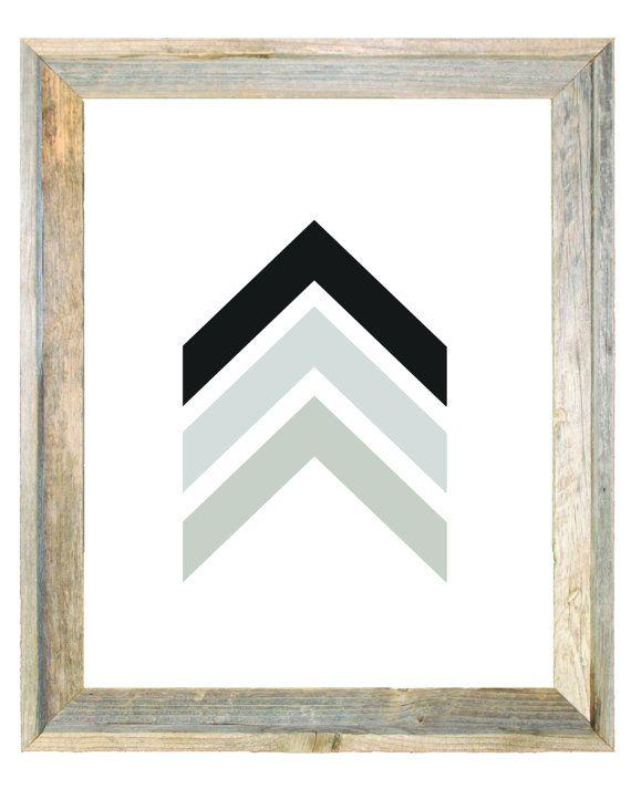 Monochrome Earthy Tones Chevron Arrows Wall Art by IslaKateDesigns