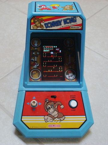$89.99 VINTAGE NINTENDO TABLE TOP DONKEY KONG MINI ARCADE GAME COLECO W BATTERY COVER