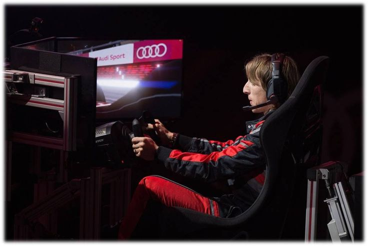 MODRIIIC!! Audi (Spain) organised a competition between players with formula E simulators...#RM Players pitted their driving skills against each other in a simulated race to see who was the king of the race....
