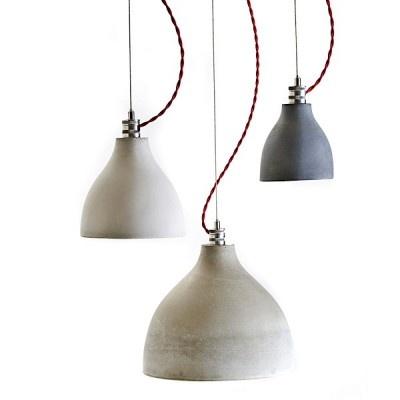 HEAVY LIGHT COLLECTION - la beauté brute d'une suspension en béton finement travaillé - Benjamin Hubert