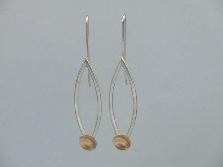 SUNSET Earrings Sterling Silver 925 / 19,2 K Gold