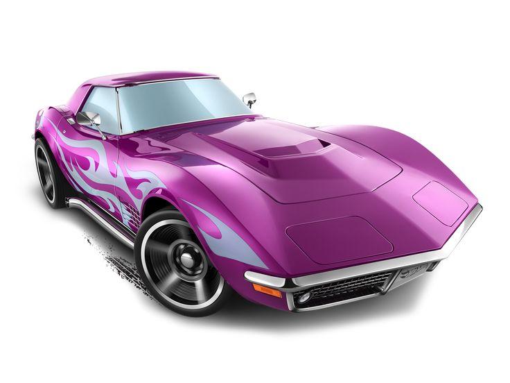 Mattel Hot Wheels Diecast Car 69 Corvette 2014 Purple