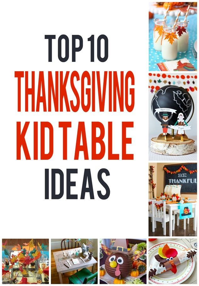 A round up of inspirational ideas to set a kids' thanksgiving table!