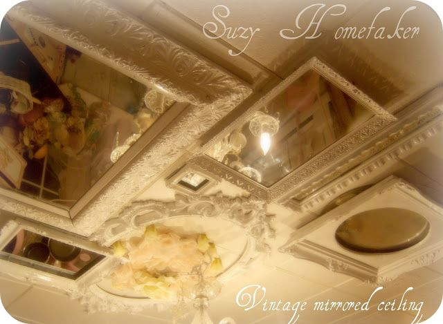 Love the ceiling <3 RECYCLED MIRROR CEILING