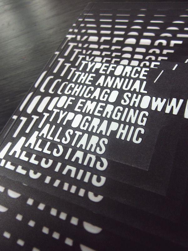 Typeforce Exhibition Catalogue by Darren McPherson, via Behance