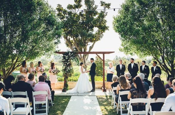 If you're looking for a Swan Valley wedding venue with gardens, vineyards and a modern backdrop, Barrett Lane might be just what you're after. | Photo Credit: Natalija Brunovs
