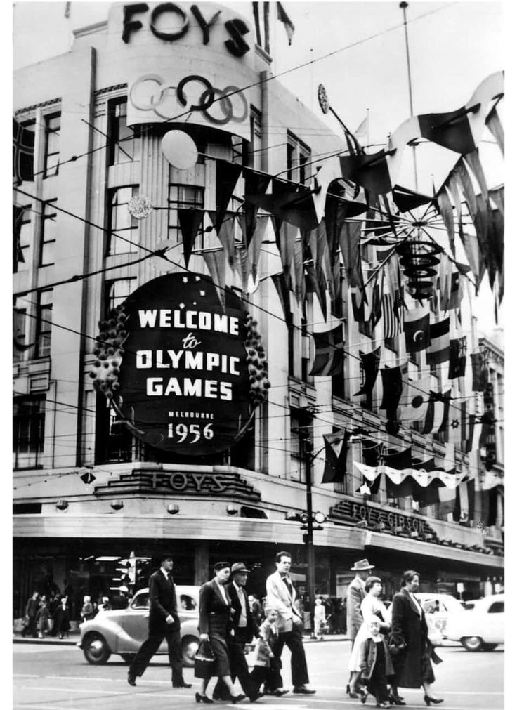 Advertising Olympics Melbourne 1956