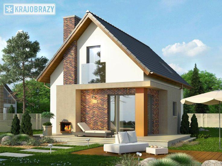 Projekt domu Tarot 2. Nowoczesny mały dom z poddaszem - doskonały jako domek letniskowy.
