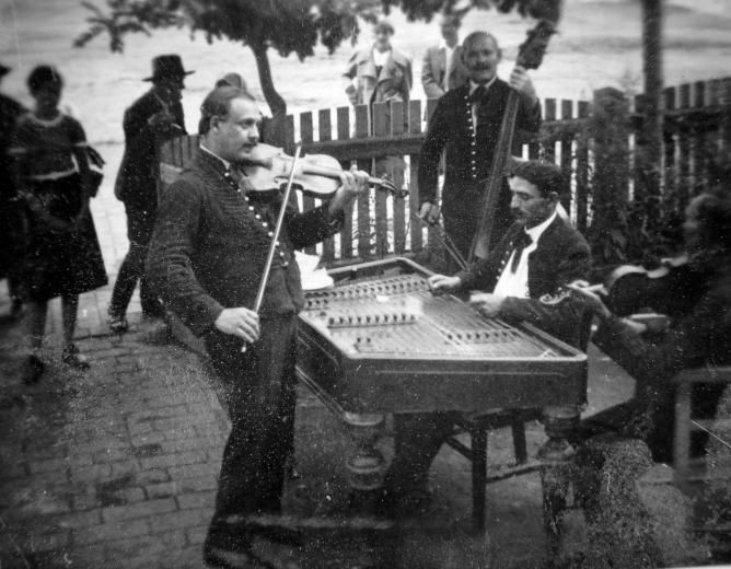 Musicians in Hortobágy, Hungary in the 1930's
