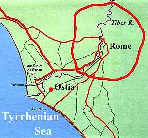 Map Of Ostia Maps Of The Ancient World Roman Empire Ancient