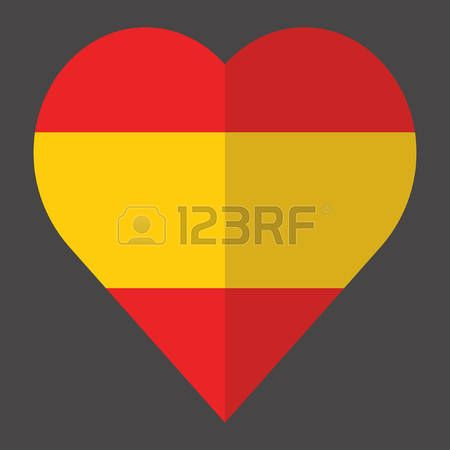 heart with spanish flag color photo