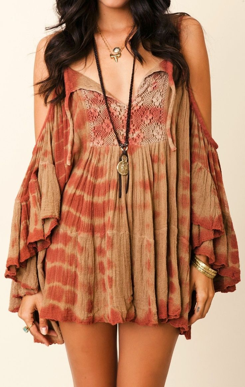 Lovely pleated boho summer fashion