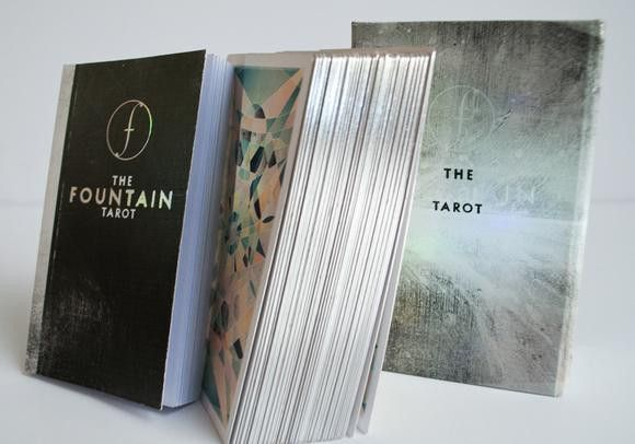 Fountain Tarot Cards Wandering Market The Fountain Tarot is a contemporary re-envisioning of the Tarot, connecting the worlds of geometry, internet culture, art, and spirituality. If you have wanted to learn about the Tarot this is a perfect deck to start with.