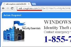 Ask.couplose.com pop-up ads est une menace infectieuse qui fait son chemin dans les milieux marqué